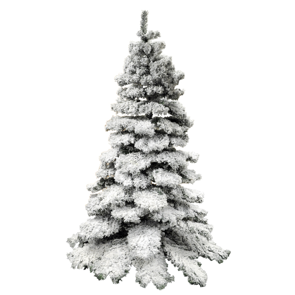 christmas tree with stand. 1000 tips. 7ft bushy snow effect xmas decoration. Enlarged Preview