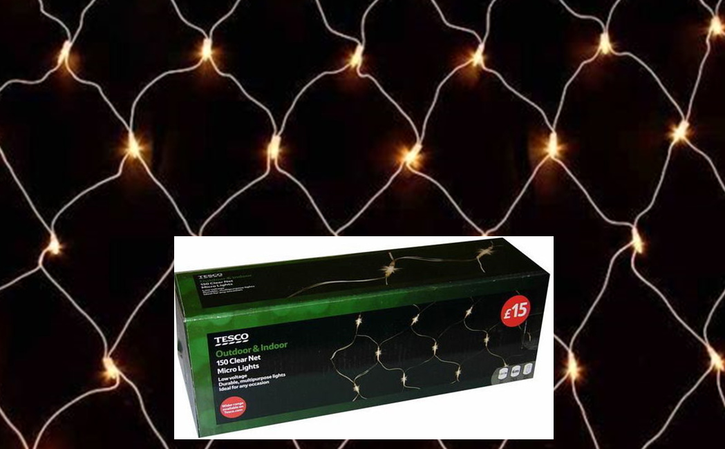 150 LOW VOLTAGE MICRO NET LIGHTS CHRISTMAS TREE WALL & WINDOW DISPLAY DECORATION Enlarged Preview