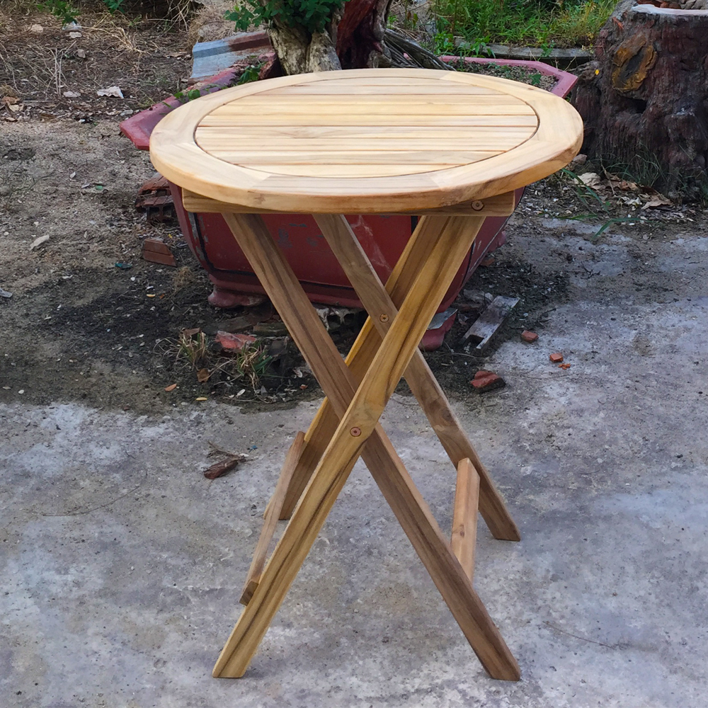 round folding table for garden patio 60cm diameter folding round table