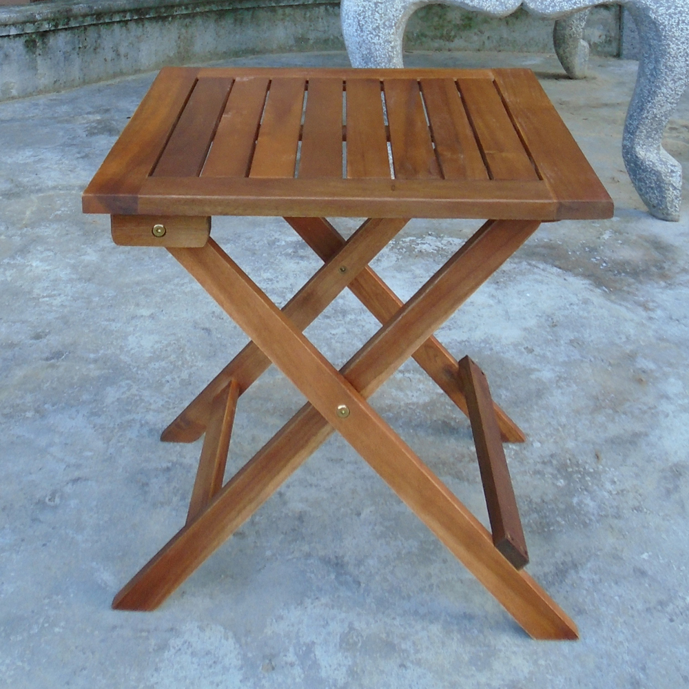 square wooden folding table for garden patio 46cm ebay. Black Bedroom Furniture Sets. Home Design Ideas