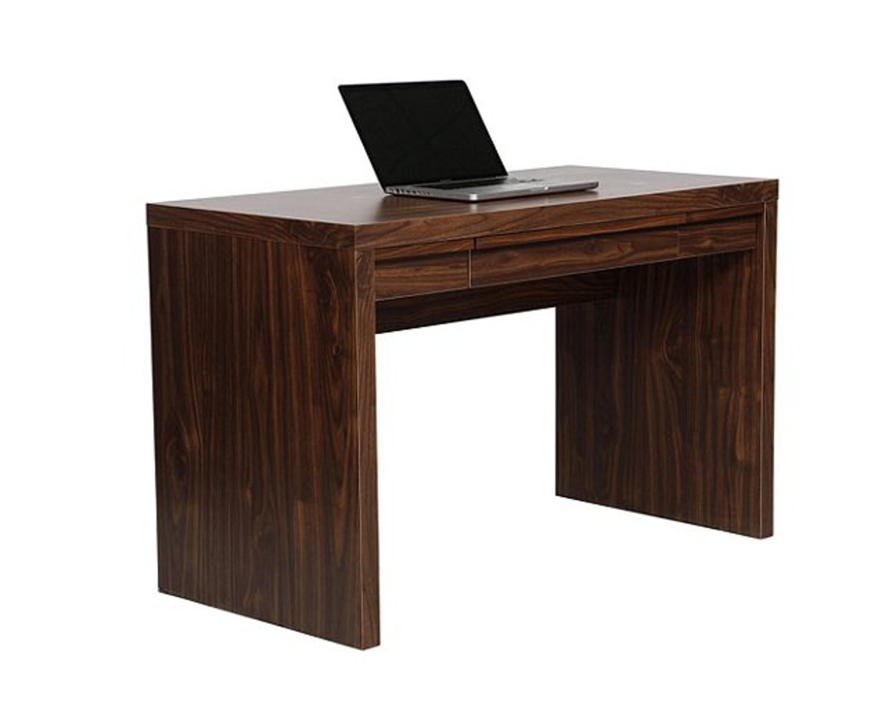 Office desk home study computer craft writing 3 drawer storage chunky walnut ebay - Craft desk with storage ...