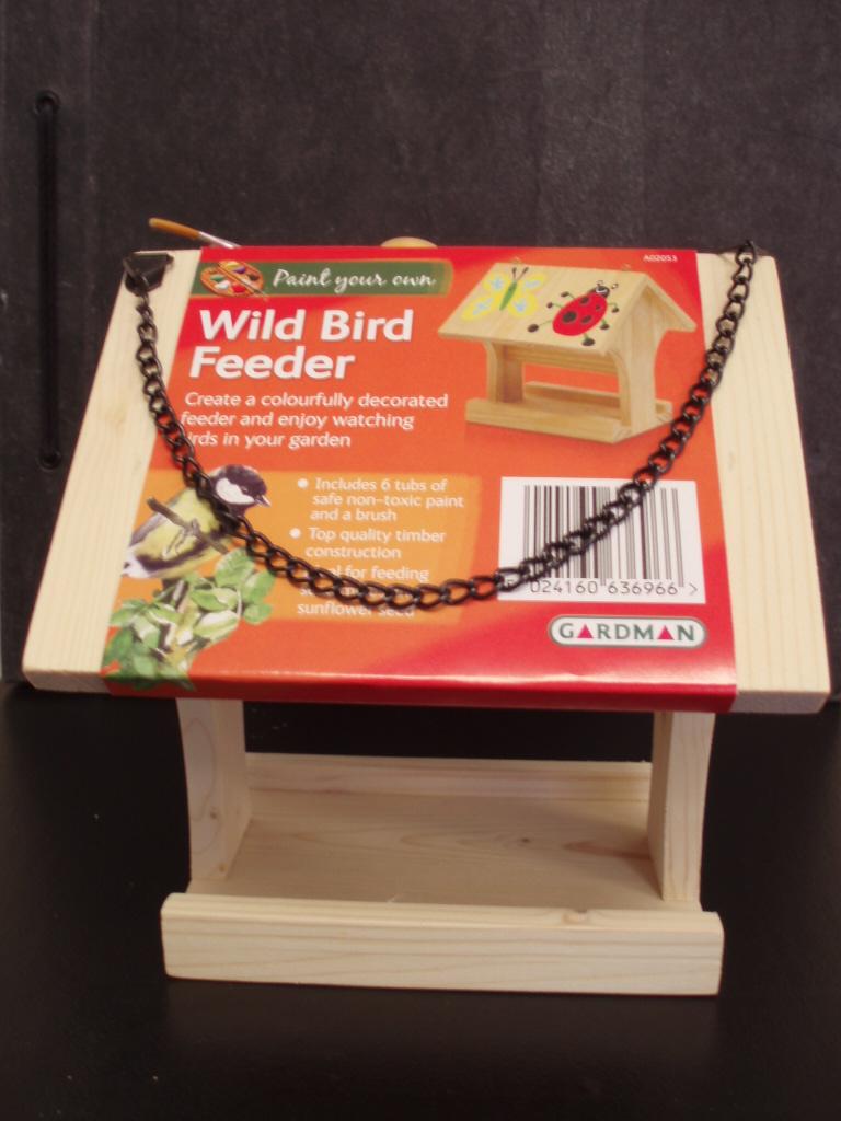 Paint Your Own Wild Bird Feeder Craft Wooden Hanging Bird