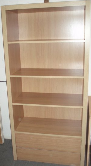 Drawers With Shelves. 2 DRAWERS 4 SHELVES OAK FINISH