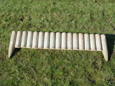 120 Lengths 6 FIXED LOG ROLL Garden Wooden Border Edge EBay