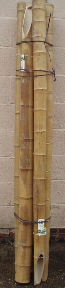 NEW GARDMAN BAMBOO POLES POSTS 2.10M X 10CM SET OF 5 Enlarged Preview