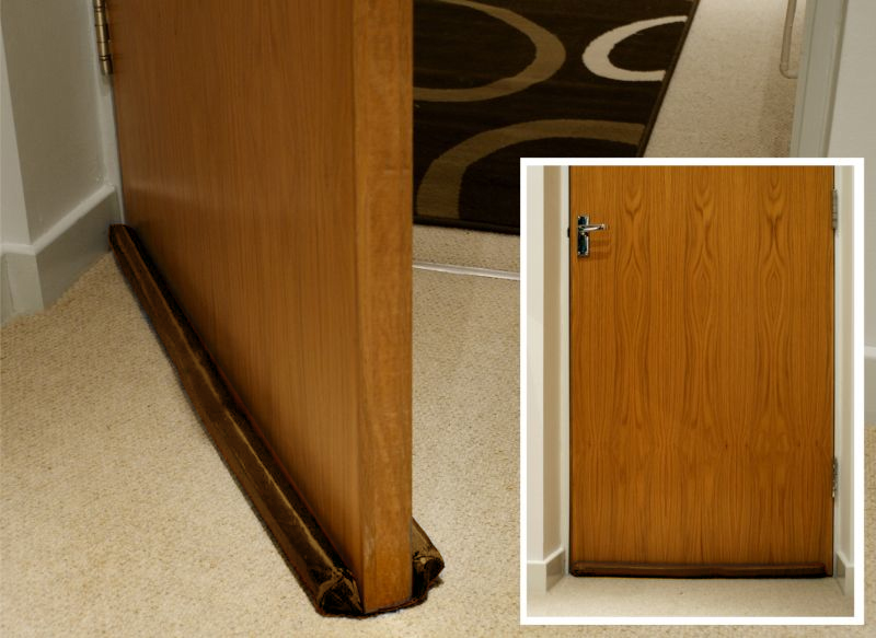 Draught excluder under doors windows adjustable two for Door draft stopper