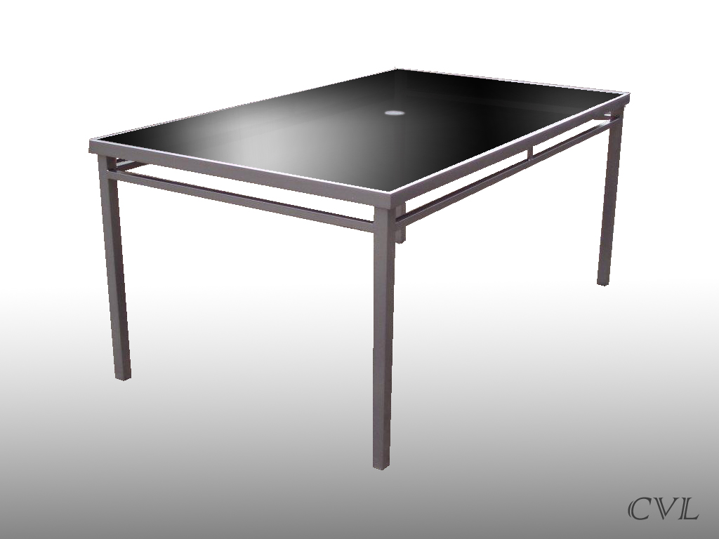Shopping NEW SICILY RECTANGULAR BLACK GLASS GARDEN DINING TABLE