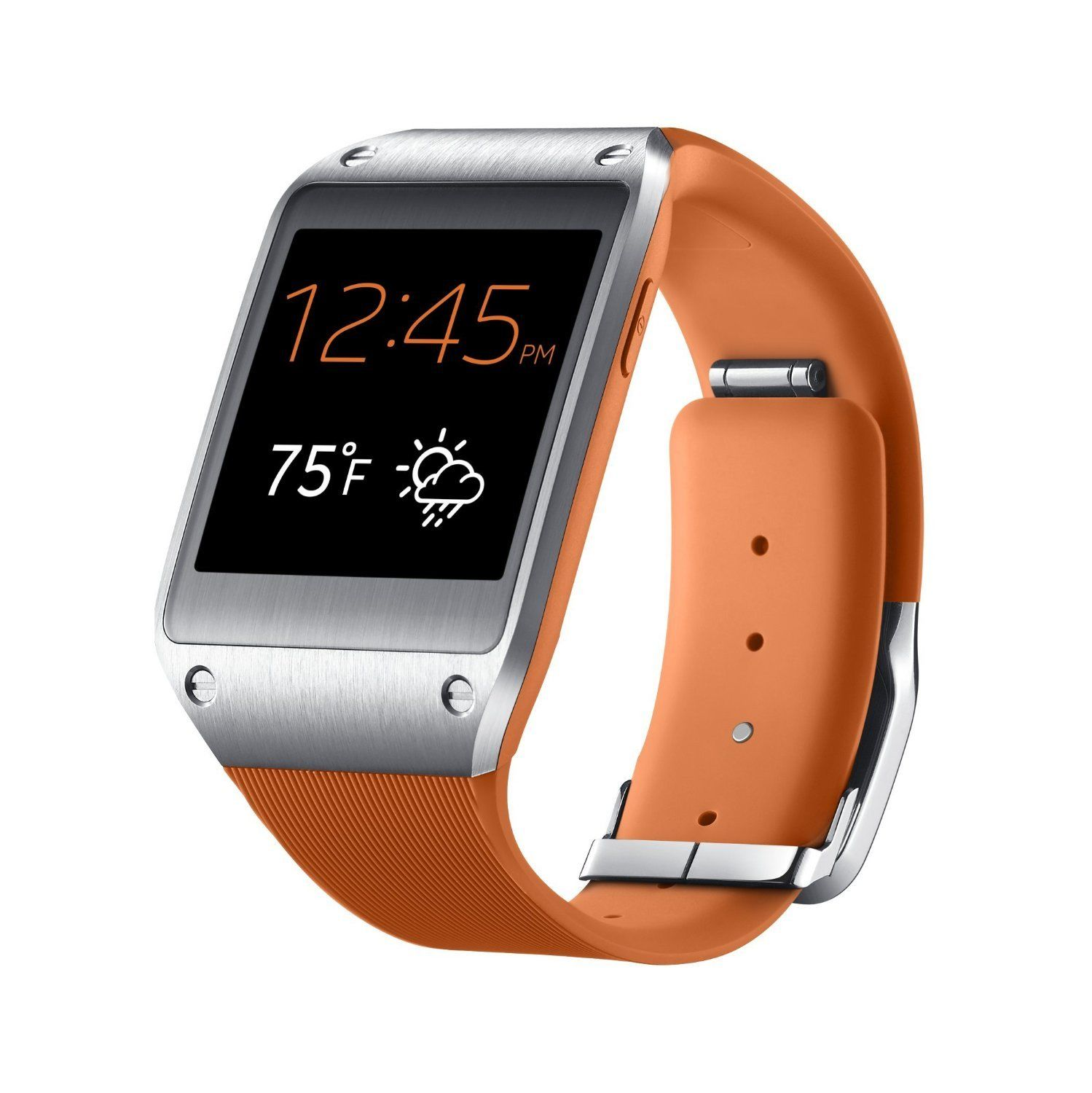 "SAMSUNG GALAXY GEAR SM-V700 SMARTWATCH ORANGE 1.63"" BT ..."