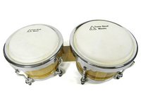 View Item Large Bongo Drums (Tunable, Natural Heads and Curved Rims)