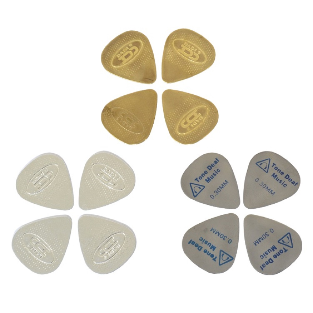 12 METAL GUITAR OR BASS PLECTRUMS plectrum pick picks