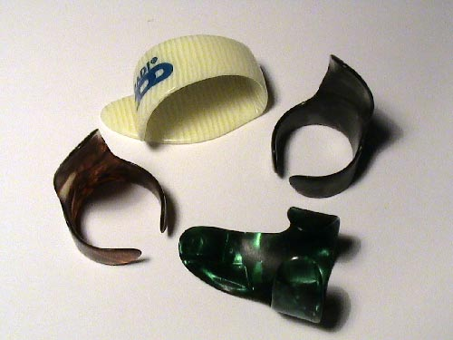 THUMB AND FINGER PICKS fingerpicks pick guitar plectrum