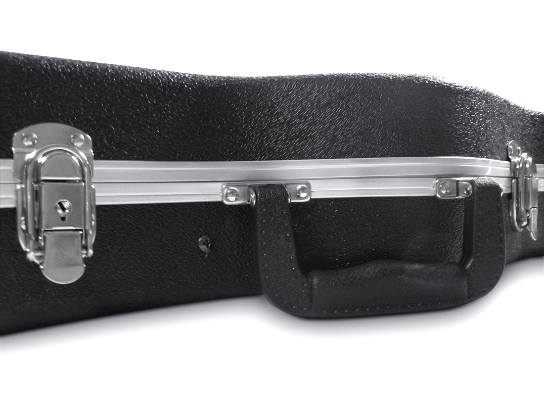 ABS Electric Guitar Hard Case in Black. Fits Fender Strat Shaped Guitars Flight