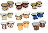 View Item Bongo Drums (Tunable, Natural Heads and Curved Rims)