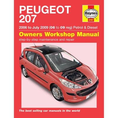 New Haynes Manual Peugeot 207 06-09 Car Workshop Repair Book 4787 Enlarged Preview