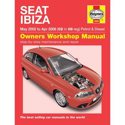 New Haynes Manual Seat Ibiza 02-08 Car Workshop Repair Book 4889 Enlarged Preview