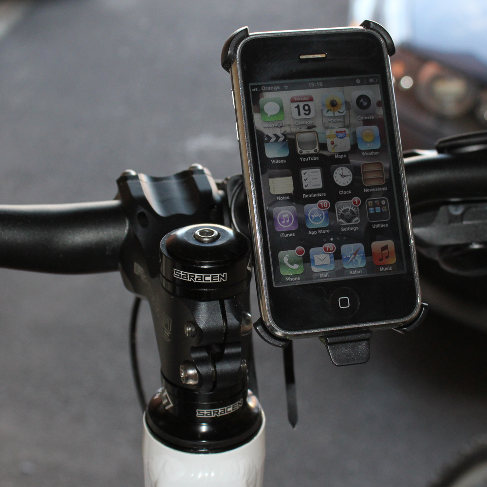 Cycle Handle Bar Mount for iPhone Holder Bike Bicycle Mobile Phone Bracket GPS Enlarged Preview