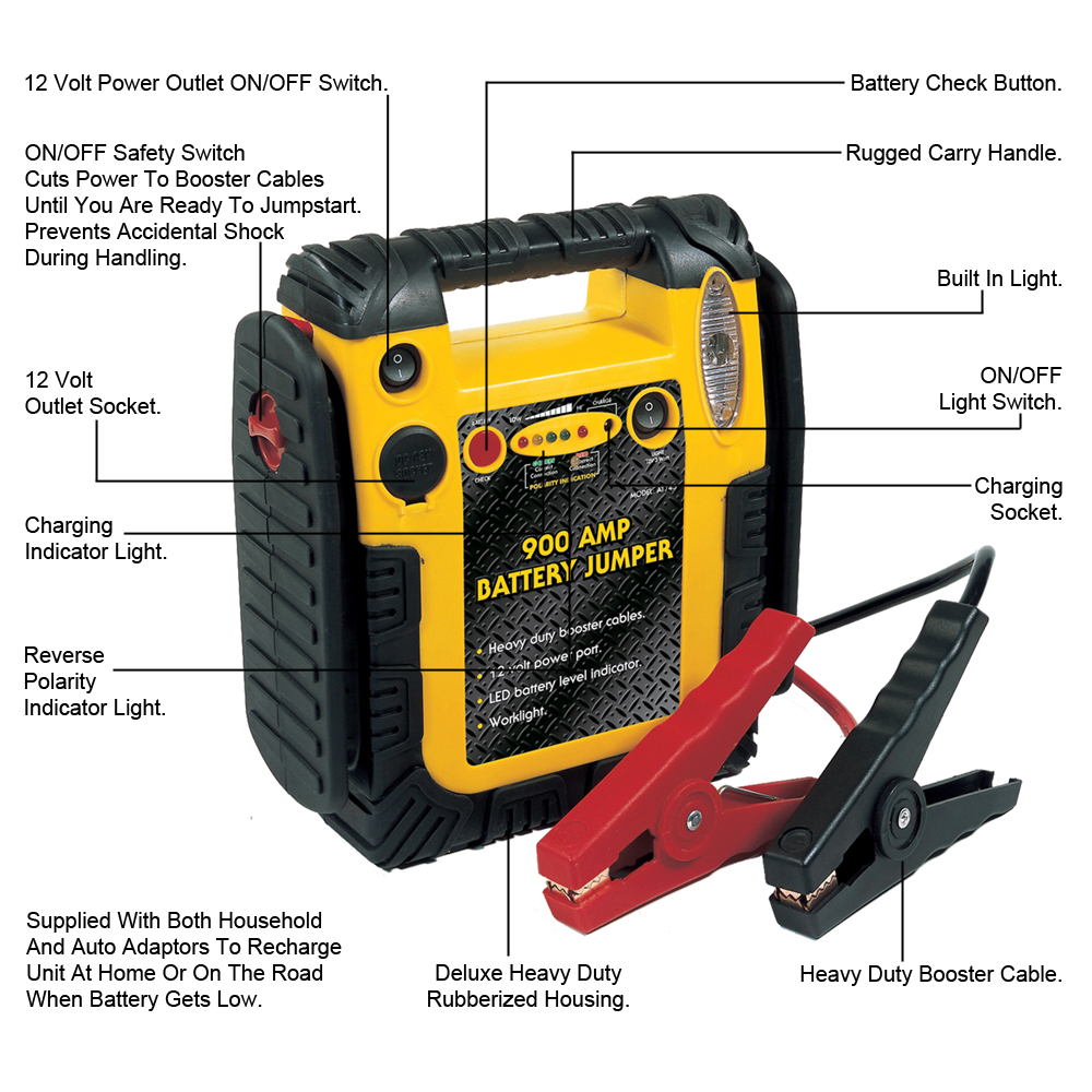 how to use a jump starter pack