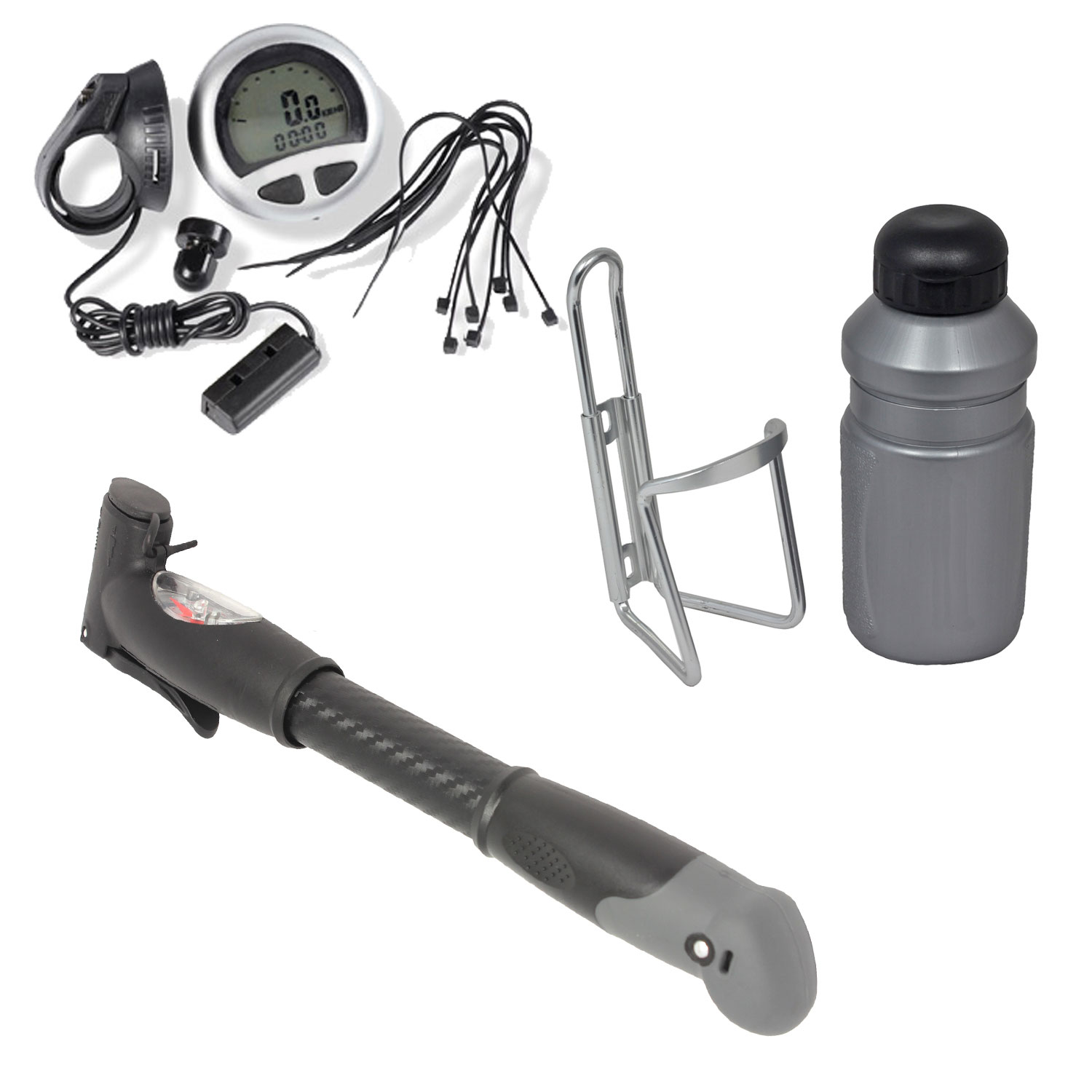 New Cycle Accessory Kit Pump Computer Bottle Drink Holder Cage Bike Bicycle Set Enlarged Preview