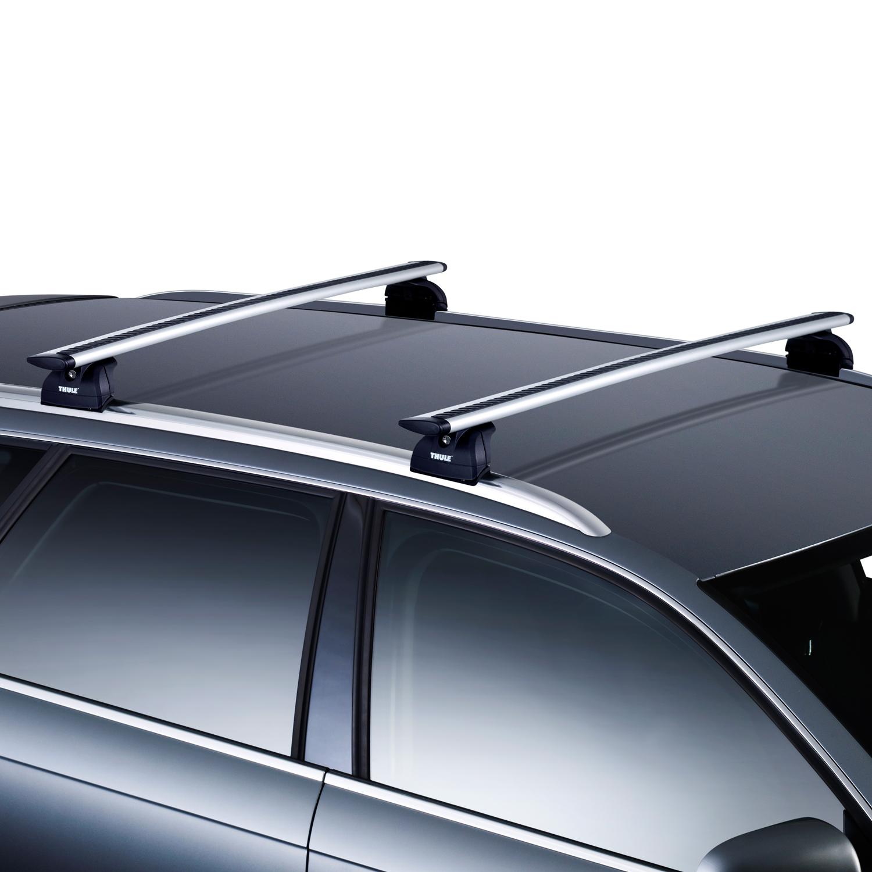Thule WingBar Silver Roof Bars Set Audi A4 B9 Avant 16-17