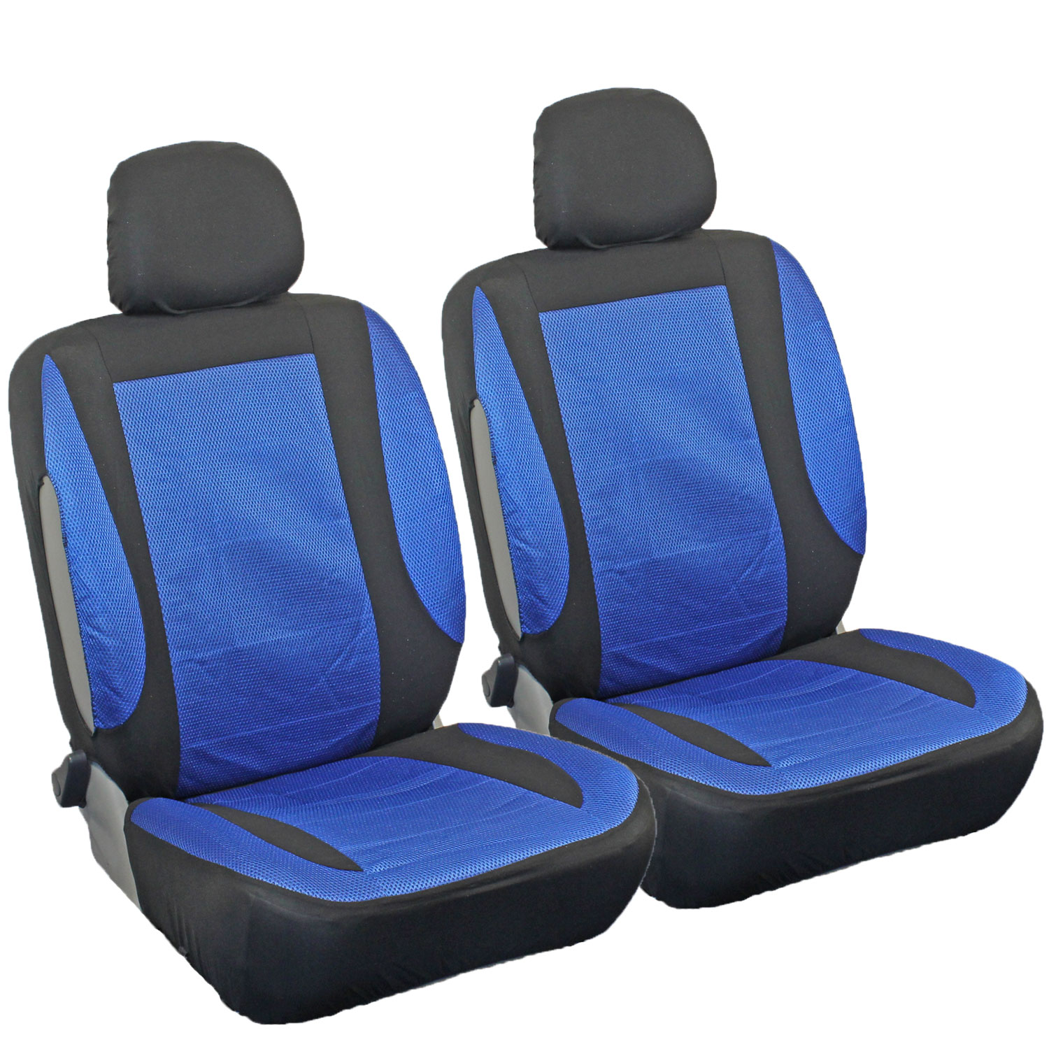 new stretch fit mesh car seat covers blue and black universal fit protective ebay. Black Bedroom Furniture Sets. Home Design Ideas