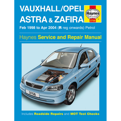 New Haynes Manual Vauxhall Astra Zafira Petrol 98-04 Workshop Repair Book 3758 Enlarged Preview