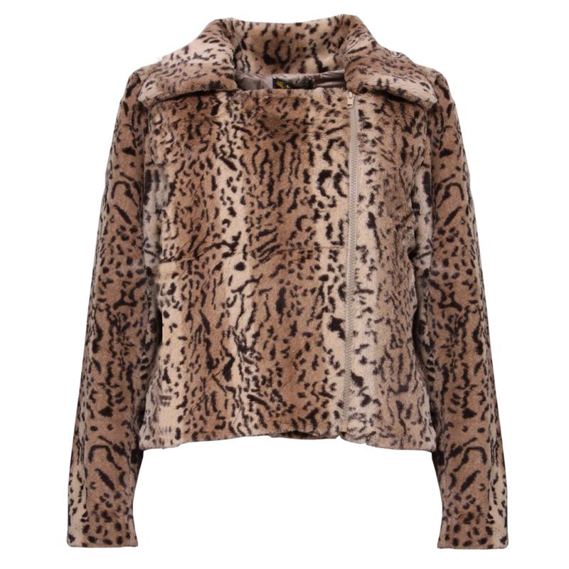 Leopard print jacket for women