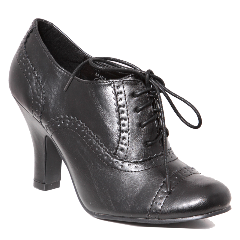 New Womens High Heeled Lace Up Ladies Brogues Sz 3 8 Ebay