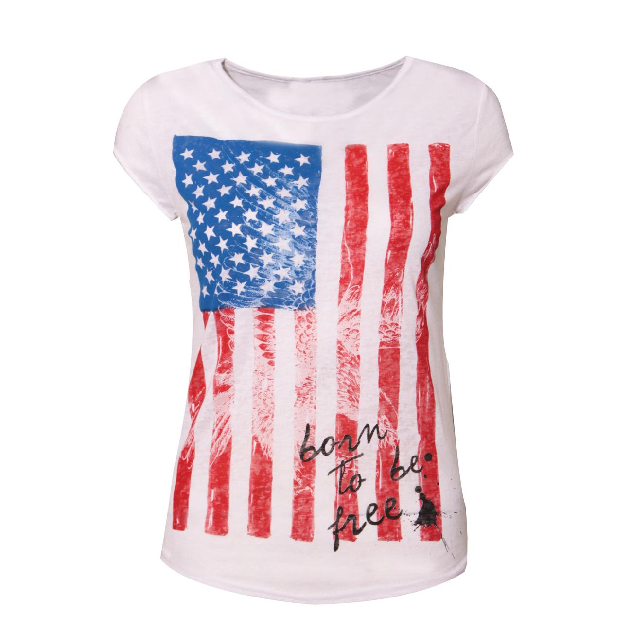 new womens american flag ladies eagle t shirt size 8 14 ebay