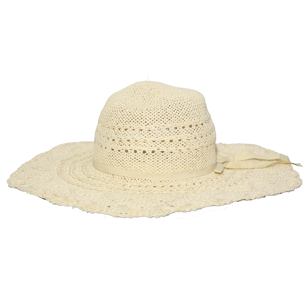 new womens straw wide brim floppy sun hat one size ebay