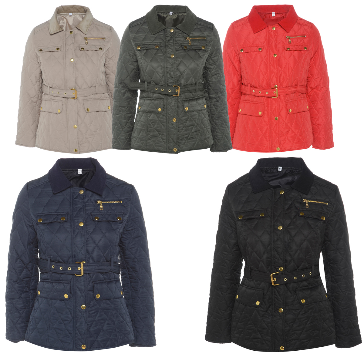 Navy quilted jacket women