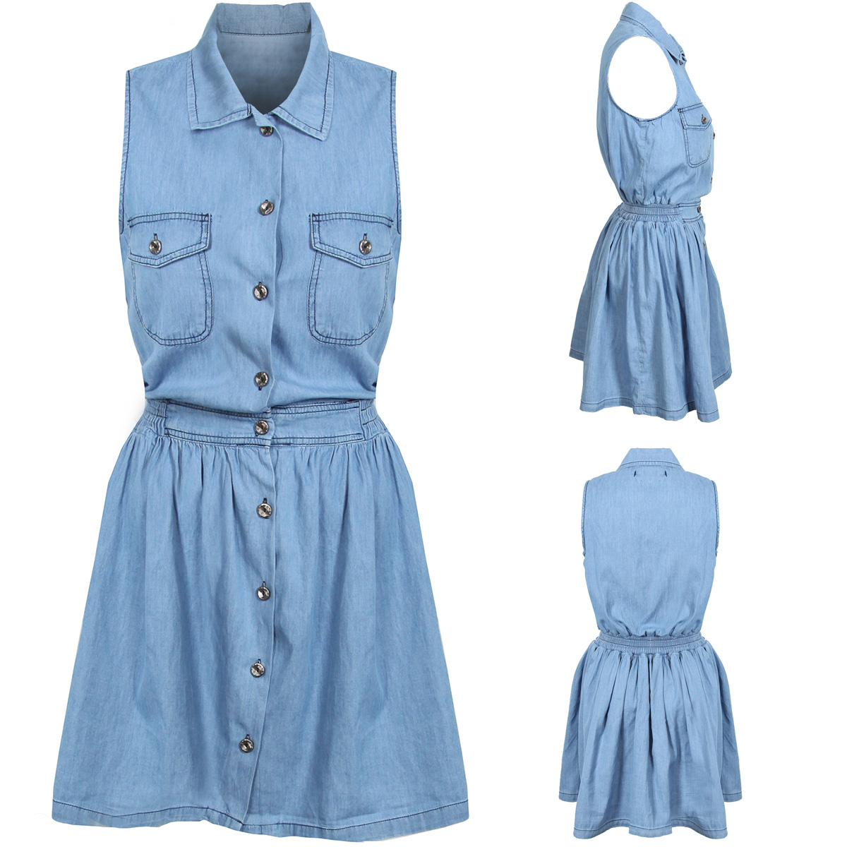 Creative Plus Size Vintage Denim Dress Blue Jeans Dressesin Dresses From Women