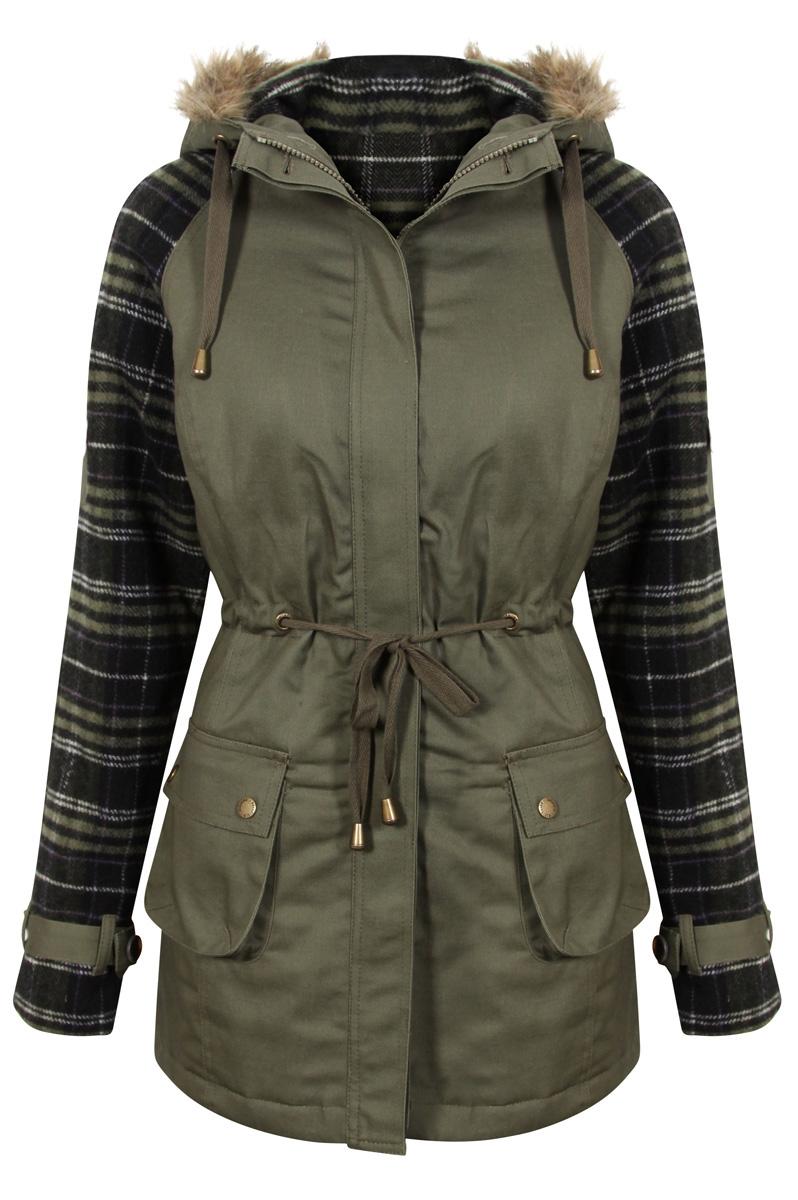 Khaki coats for women