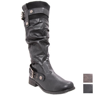 View Item Flat Knee High Boots