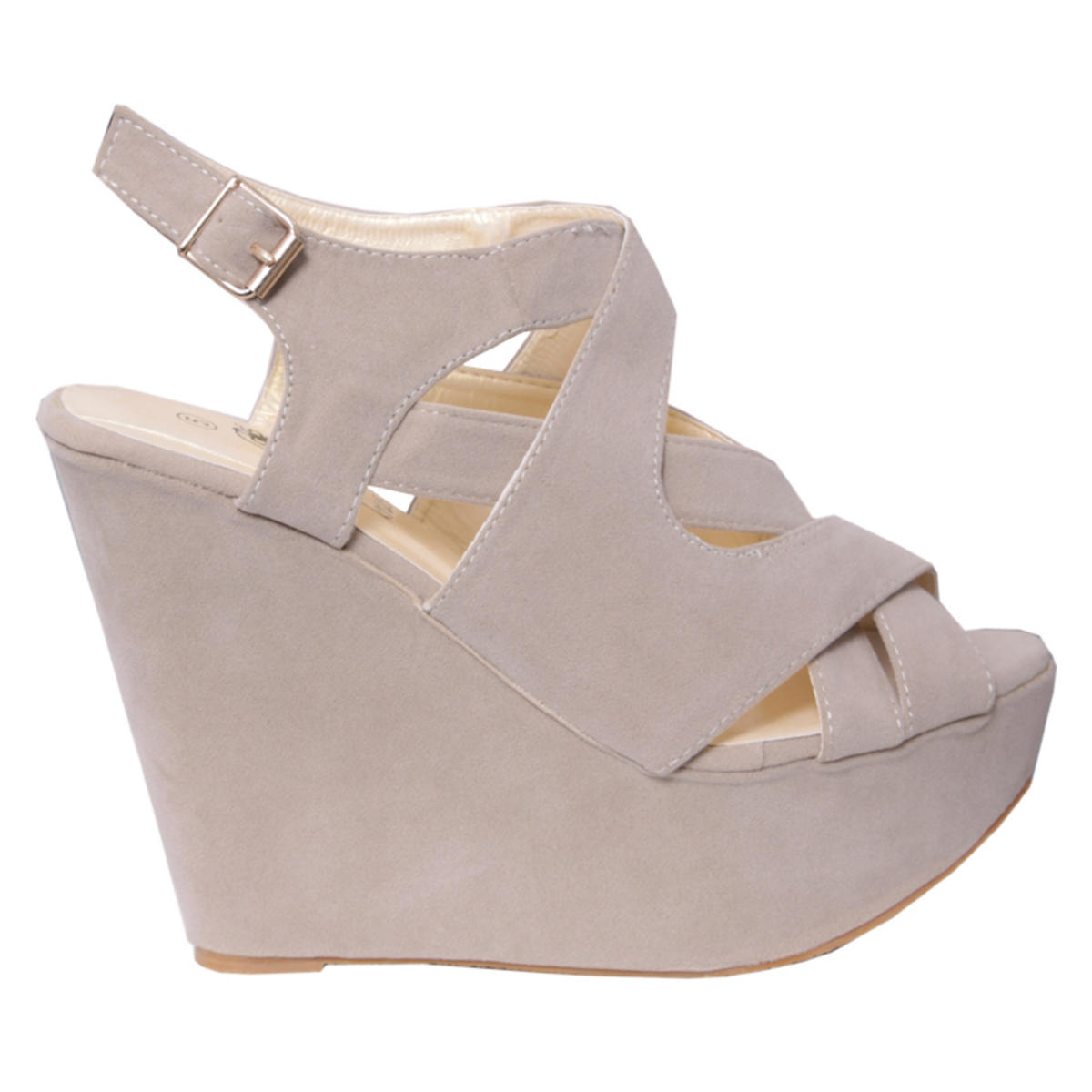 Crossover Platform Wedge Sandal Preview