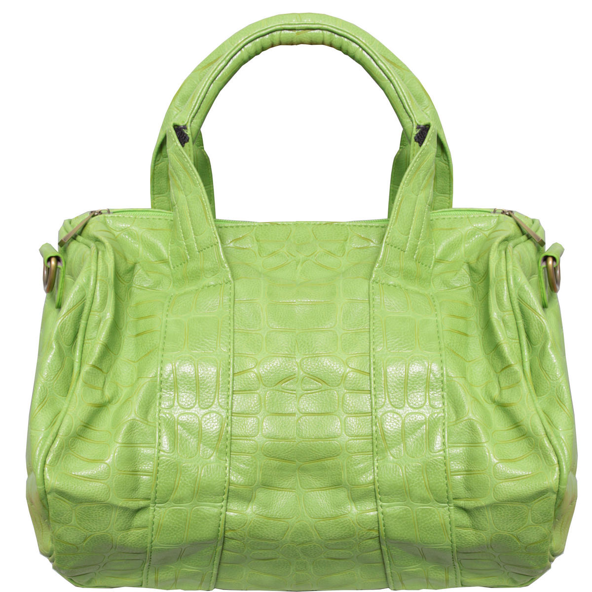 Acid Green Faux Animal Skin Handbag Preview