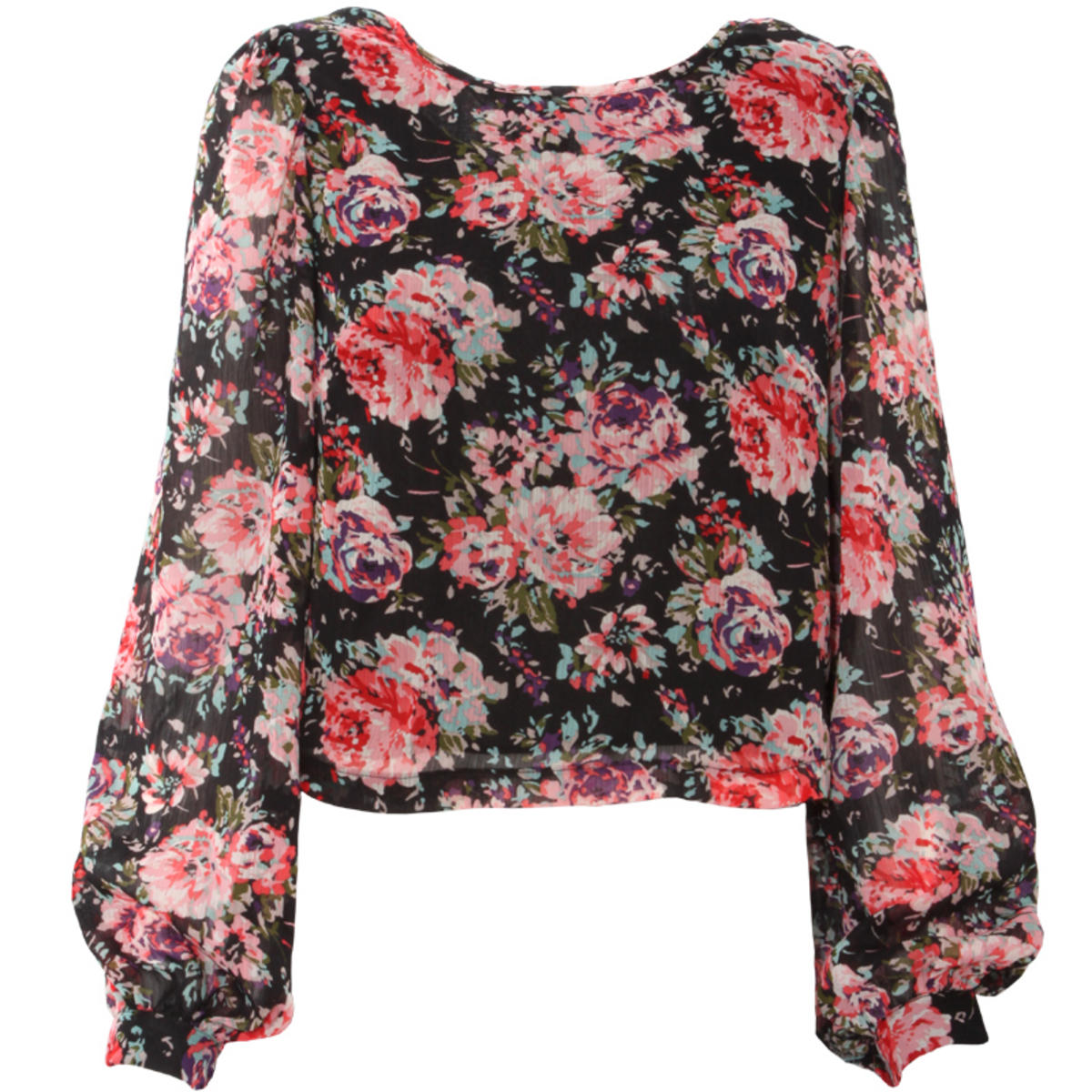 Rose Print Chiffon Blouse Preview