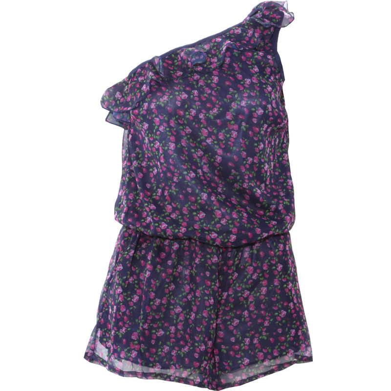 Floral Asymmetric Playsuit Preview