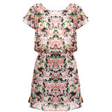 SIZE 8 ONLY Floral Print Chiffon Dress