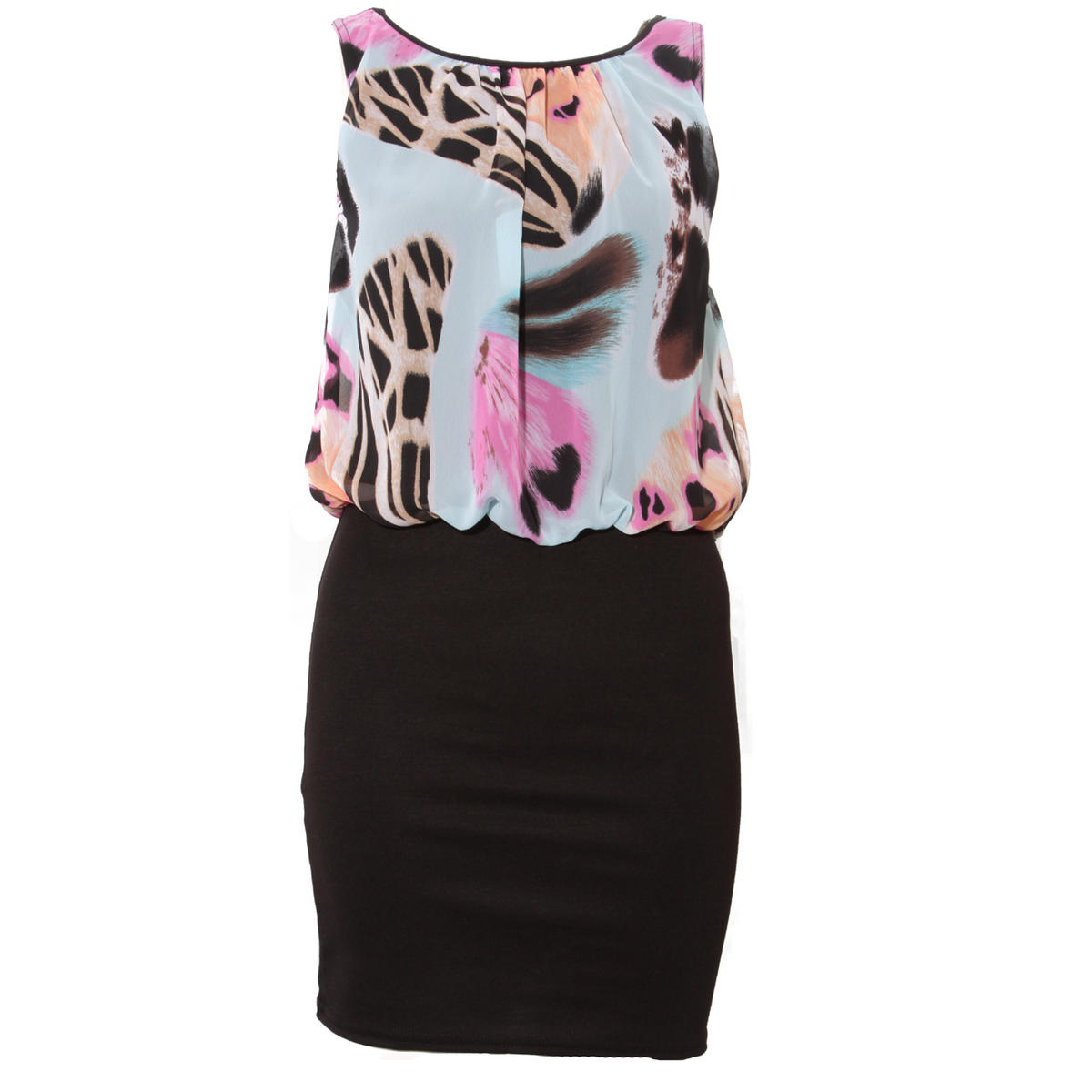 Bodycon Floral Print Layer Dress Preview