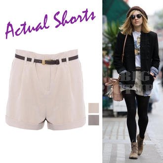 View Item Turn Up Belted Chino Shorts