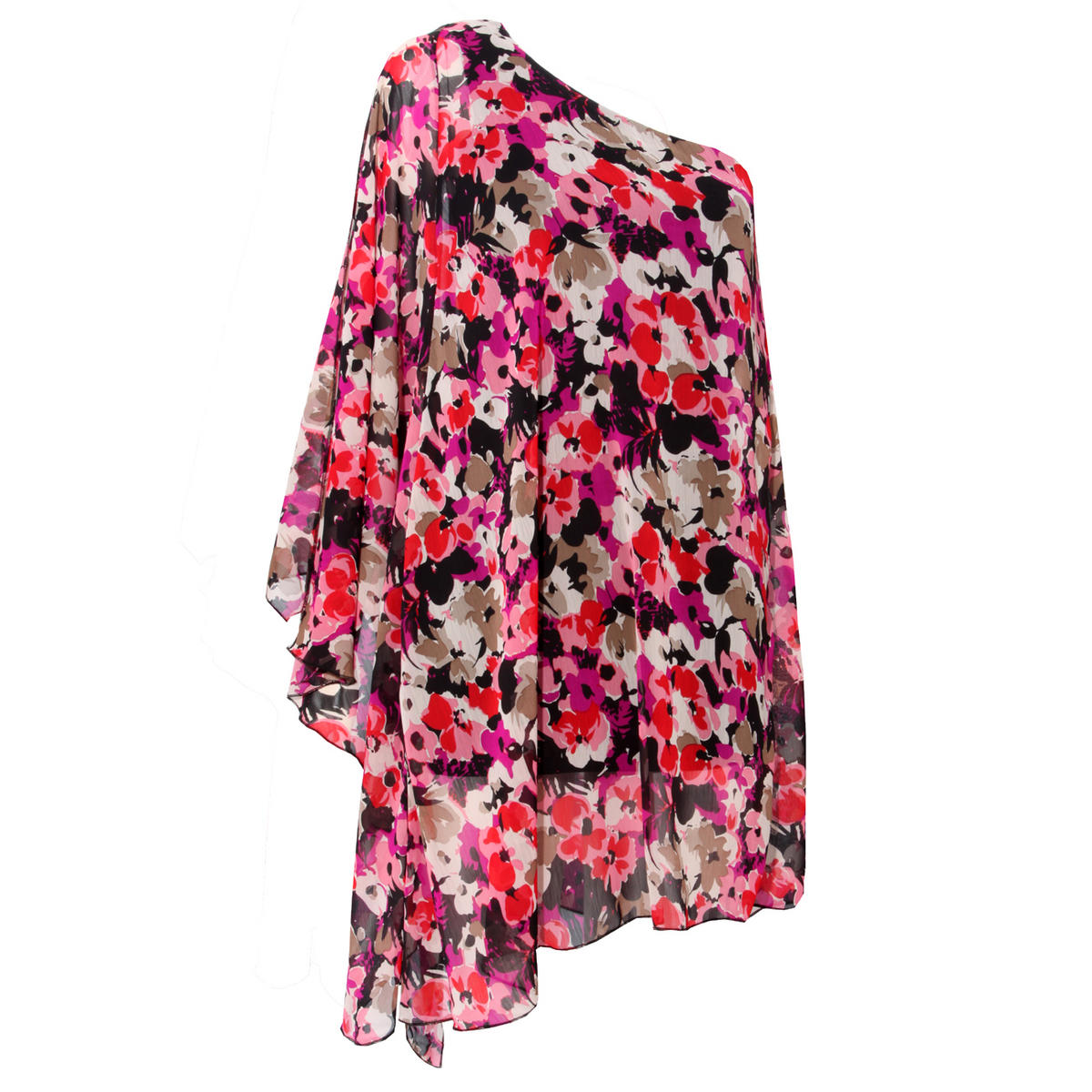 Floral Print Asymmetrical Dress Preview