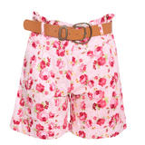 Rose Print High Waisted Short