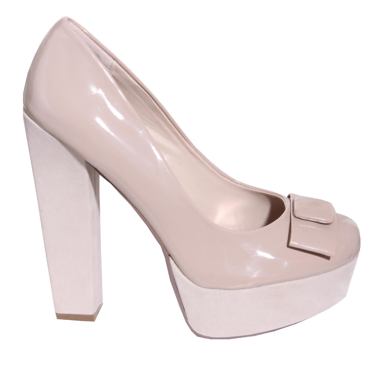 Nude Patent Bow Platform Preview