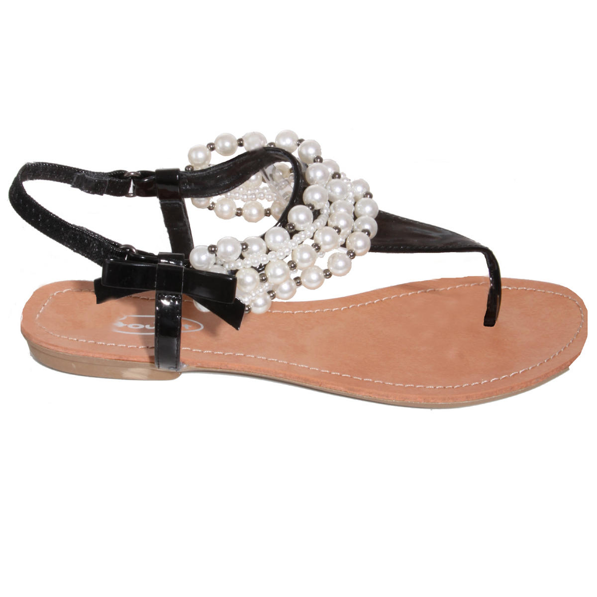 Black Pearl Embellished Sandal Preview