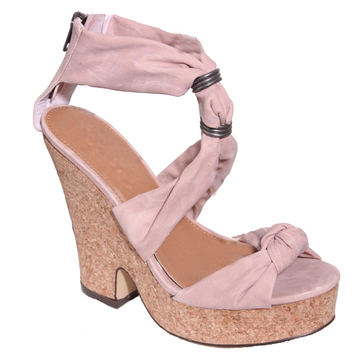 SIZE 3 ONLY Nude Platform Wedge Sandal  Preview
