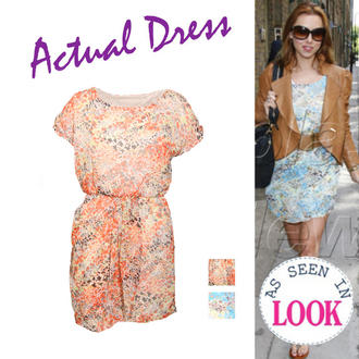 View Item Abstract Floral Tunic Dress