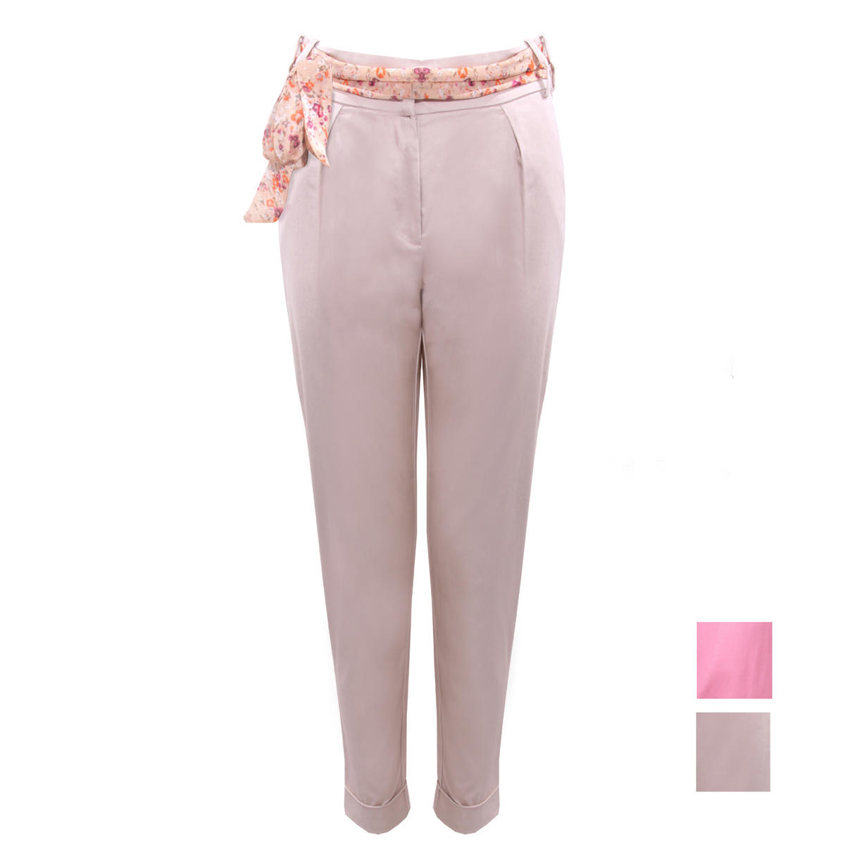 Floral Belt Turn Up Chino Trouser Preview