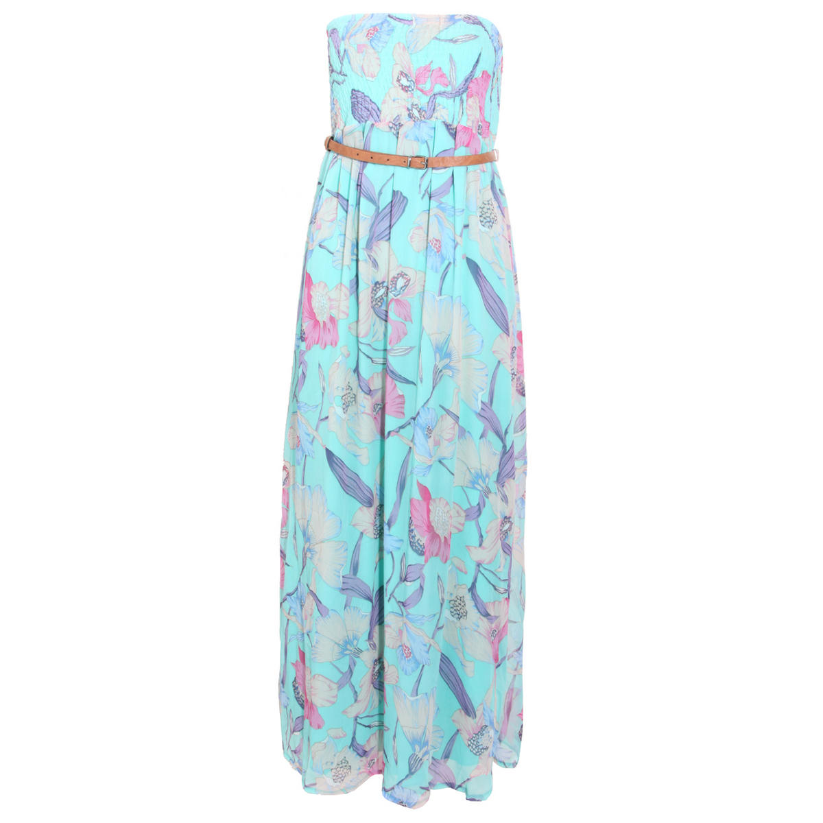 Floral Print Bandeau Maxi Dress Preview