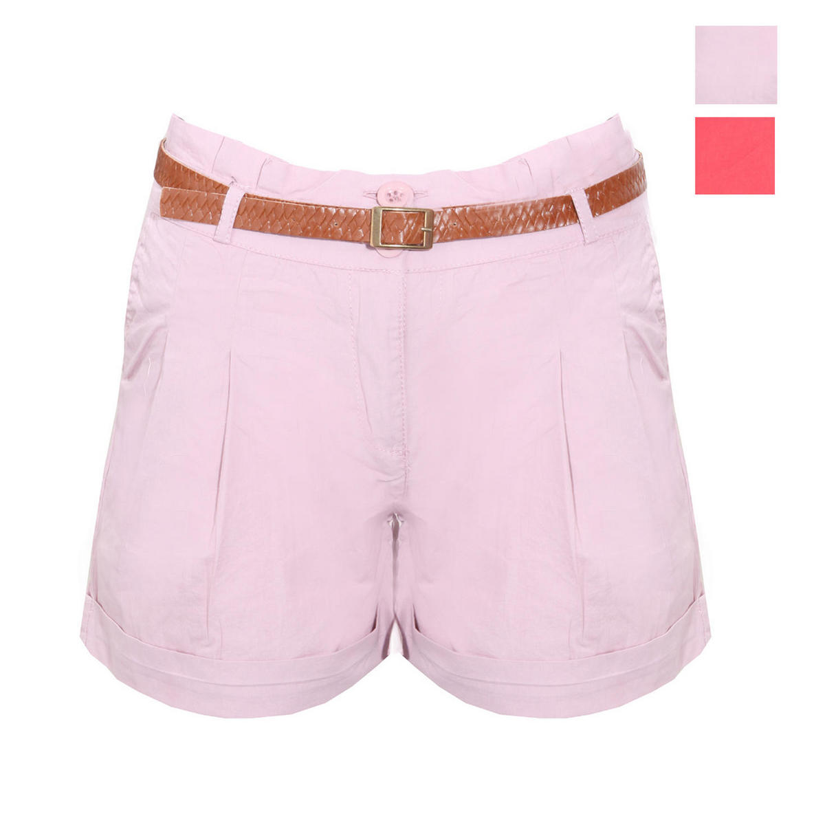 SIZE 8 DUSTY PINK ONLY Turn Up Pleated Short Preview