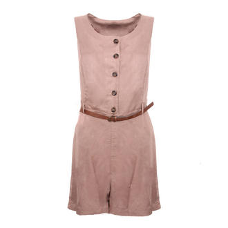 View Item Belted Button Up Playsuit